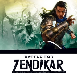 Logo Battle for Zendikar s planeswalkerem Gideon