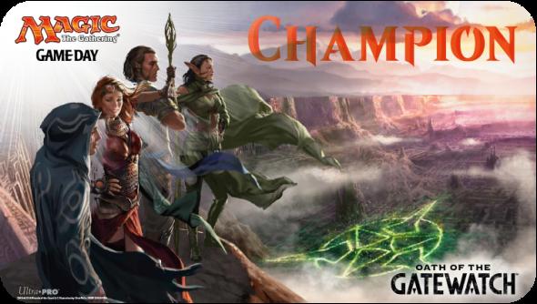 Nádherná podložka pro vítěze Oath of the Gatewatch Game Day turnaje