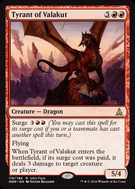 Promo karta z Intro Packu - Tyrant of Valakut
