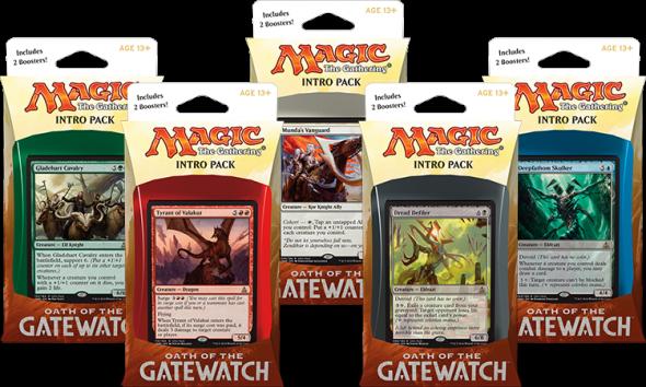Alternativní obrázky promo karet v Intro Pacích Oath of the Gatewatch