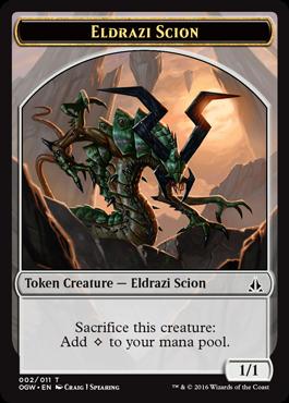 Token Eldrazi Scion 2 z Oath of the Gatewatch
