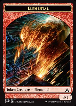 Token Elemental 1 z Oath of the Gatewatch