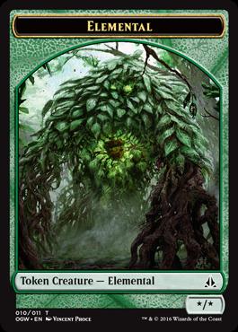 Token Elemental 2 z Oath of the Gatewatch