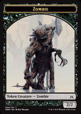 Token Zombie z Oath of the Gatewatch