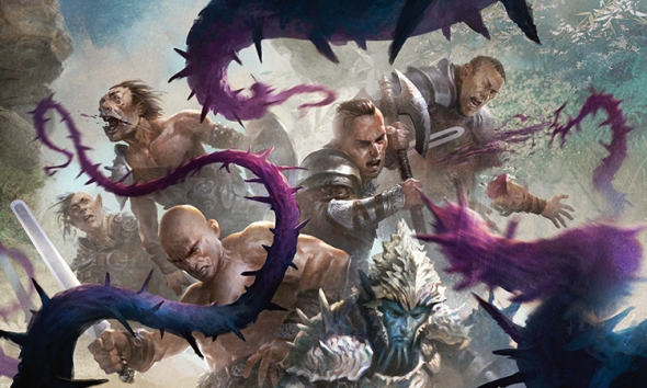 Zářijové FNM promo Flaying Tendrils - art