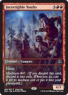 Shadows over Innistrad Game Day promo - Incorrible Youths