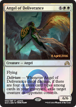 Shadows over Innistrad Launch promo - Angel of Deliverance