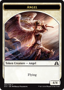 Shadows over Innistrad token - Angel