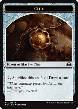 Shadows over Innistrad token - Clue 1