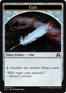 Shadows over Innistrad token - Clue 2