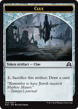 Shadows over Innistrad token - Clue 3