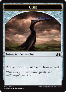 Shadows over Innistrad token - Clue 4