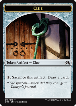 Shadows over Innistrad token - Clue 5