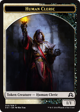 Shadows over Innistrad token - Human Cleric