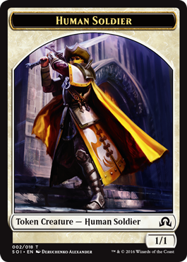 Shadows over Innistrad token - Human Soldier