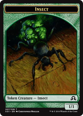 Shadows over Innistrad token - Insect