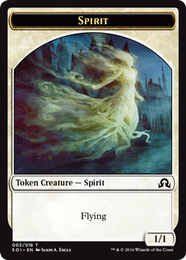 Shadows over Innistrad token - Spirit