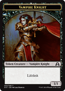 Shadows over Innistrad token - Vampire Knight