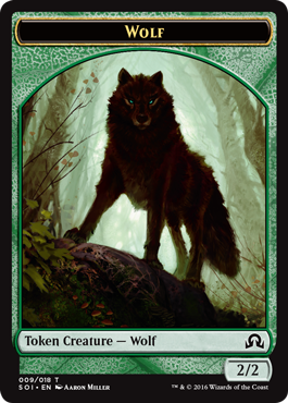 Shadows over Innistrad token - Wolf