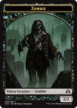 Shadows over Innistrad token - Zombie