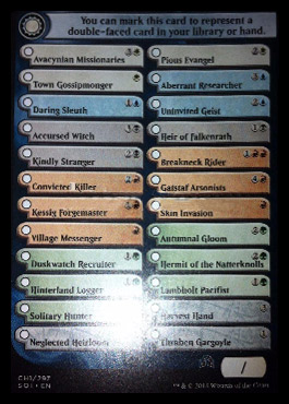 1. checklist karet ze Shadows over Innistrad