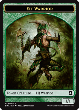Eternal Masters token - Elf Warrior
