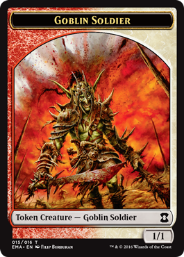 Eternal Masters token - Goblin Soldier