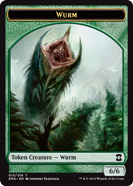 Eternal Masters token - Wurm