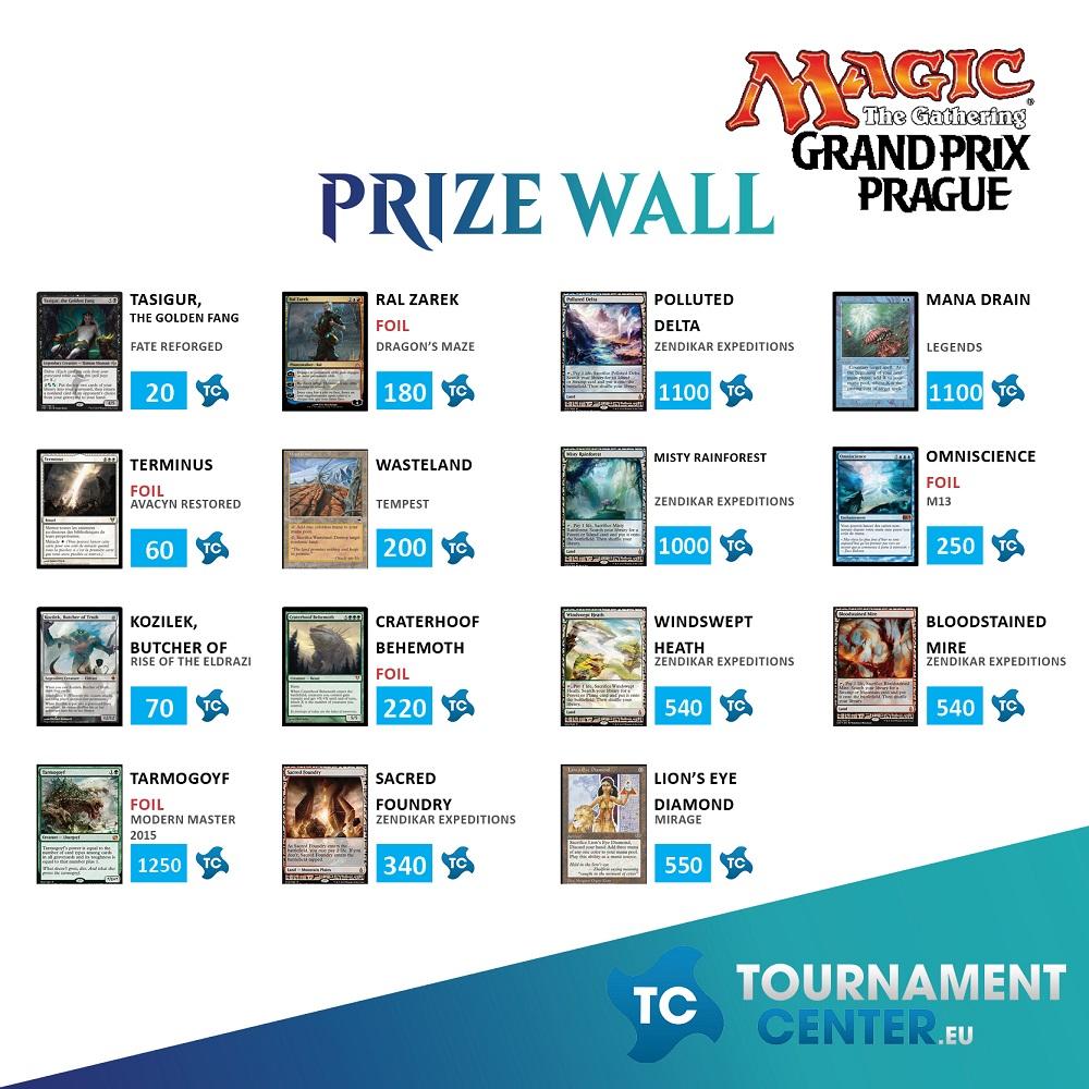 Prize Wall 2 na Side eventech na Grand Prix Praha 2016