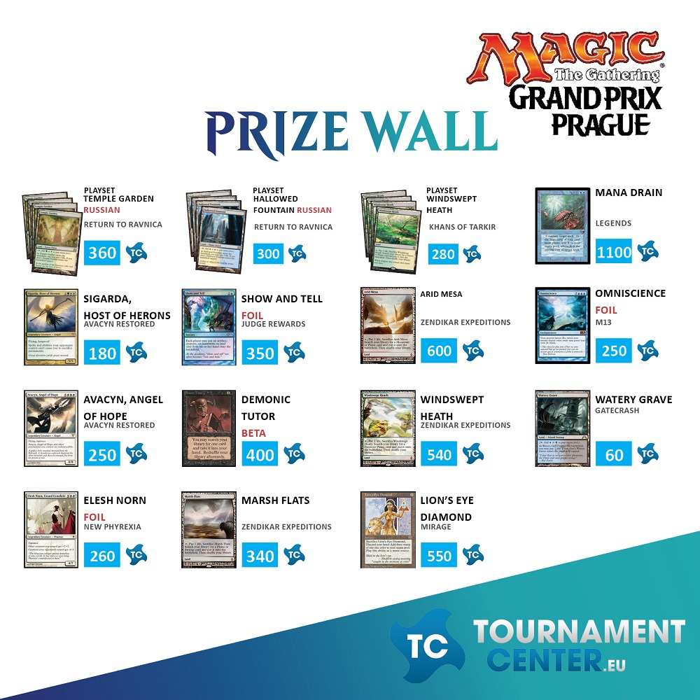Prize Wall 3 na Side eventech na Grand Prix Praha 2016