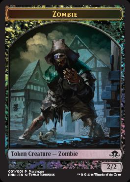 Eldritch Moon - prerelease pack - zombie token 1