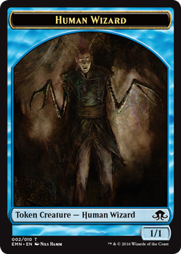 Eldritch Moon token - Human Wizard