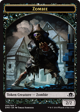 Eldritch Moon token - Zombie 1