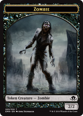 Eldritch Moon token - Zombie 3