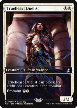 Amonkhet Game Day promo Trueheart Duelist