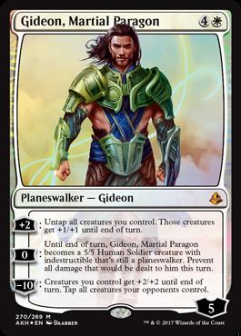 Planeswalkeři z Planeswalkers decků - Gideon Martial Paragon