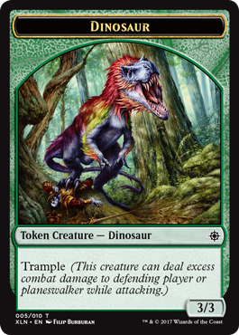 Ixalan tokens - Dinosaur token