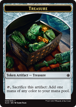 Ixalan tokens - Merfolk Treasure token