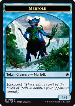 Ixalan tokens - Merfolk token