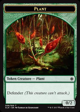 Ixalan tokens - Plant token