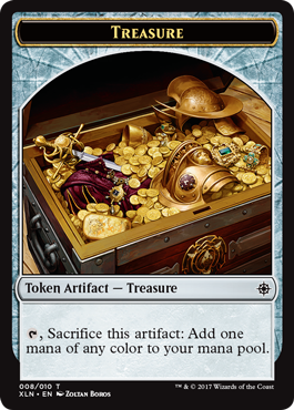 Ixalan tokens - Vampire Treasure token