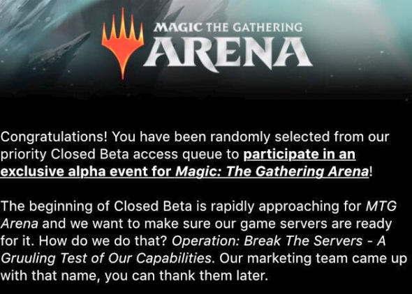 Magic Arena Beta