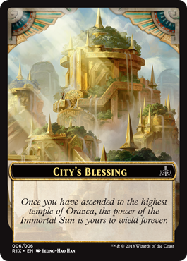 Rivals of Ixalan tokens - City's Blessing