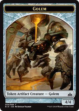 Rivals of Ixalan tokens - Golem token