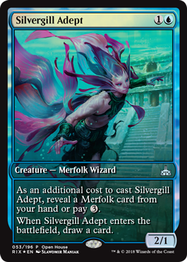 Rivals of Ixalan Open House Promo - Silvergill Adept