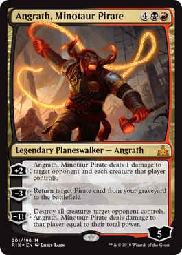 Rivals of Ixalan Planeswalker Deck promo - Angrath, Minotaur Pirate