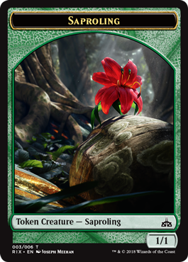 Rivals of Ixalan tokens - Saproling token