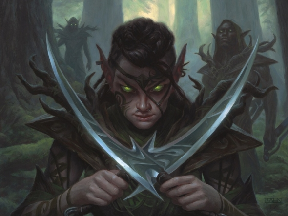 Llanowar Elves art