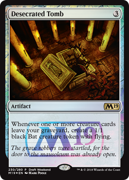 Magic 2019 Core Set Draft Weekend Promo - Desecrated Tomb