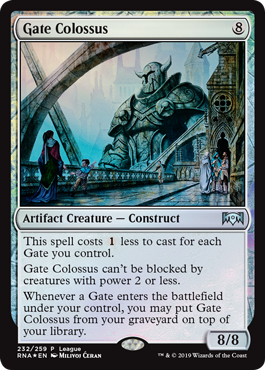 Ravnica Allegiance League Promo - Gate Colossus